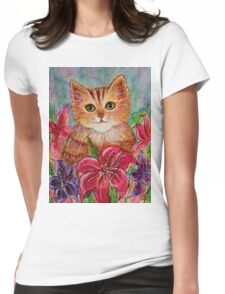 Tiger Puff Womens Fitted T-Shirt