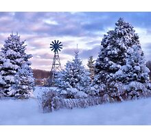 Windmill In the Snow - Erie, PA Photographic Print