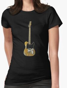 Bruce Springsteen Guitar - Fender Esquire Womens Fitted T-Shirt