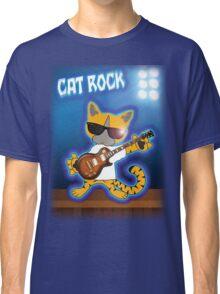 Cat Rock Guitar Classic T-Shirt