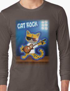 Cat Rock Guitar Long Sleeve T-Shirt