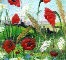 Poppy Field 2 Sticker