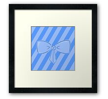 Blue Bow Framed Print