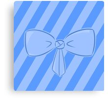 Blue Bow Canvas Print