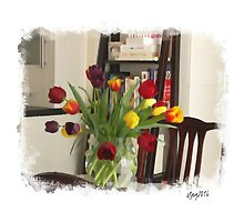 Still life ... tulips in the kitchen by OlaG
