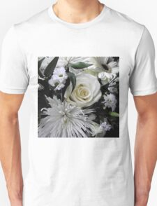White flowers Unisex T-Shirt