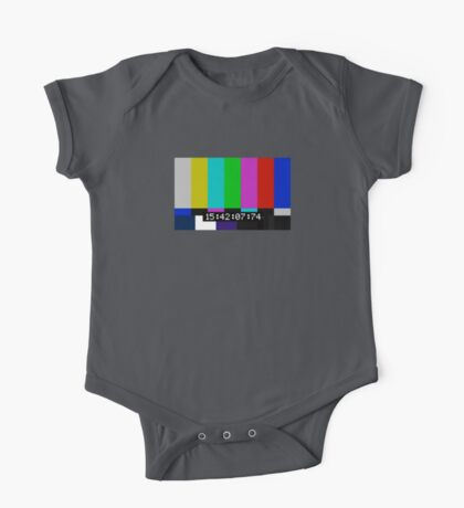 SMPTE color bars One Piece - Short Sleeve