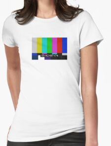 SMPTE color bars Womens Fitted T-Shirt