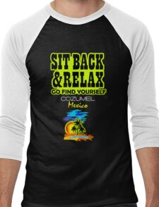 Sit Back And Relax In Cozumel Men's Baseball ¾ T-Shirt
