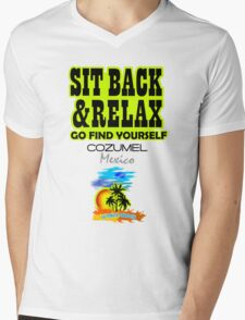 Sit Back And Relax In Acapulco, Mexico Mens V-Neck T-Shirt