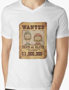 WANTED Brothers  Mens V-Neck T-Shirt