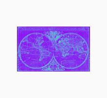 World Map (1691) Purple & Blue Unisex T-Shirt