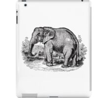 Vintage Elephants Illustration Retro 1800s Black and White Elephant Image iPad Case/Skin