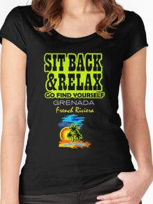 Sit Back And Relax In Grenada Women's Fitted Scoop T-Shirt
