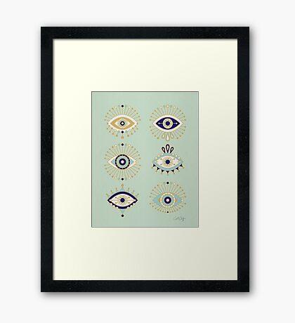 Evil Eye Collection Framed Print