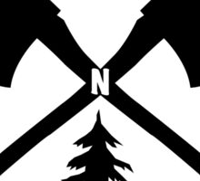 PAC NOR WES | Salmon Axe Tree Circle Sticker