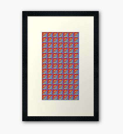 Swirly Wallpaper Framed Print