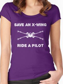 Saving aircraft one pilot at a time Women's Fitted Scoop T-Shirt