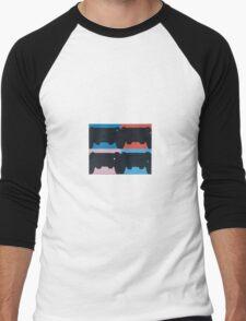 PS4 in Negative Space Men's Baseball ¾ T-Shirt