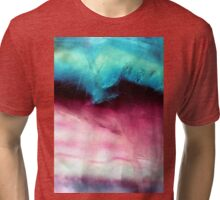 Closeup Fluorite Abstract Art Tri-blend T-Shirt