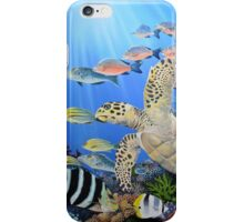 The flight of the turtle iPhone Case/Skin