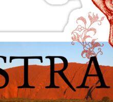 Australia Ayers Rock & Kangaroo Sticker