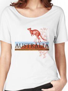 Australia Ayers Rock & Kangaroo Women's Relaxed Fit T-Shirt
