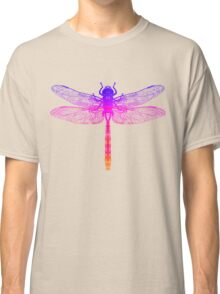 Psychedelic Colorful Dragonfly Classic T-Shirt