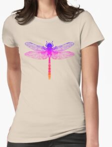 Psychedelic Colorful Dragonfly Womens Fitted T-Shirt