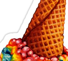 Rainbow Ice Cream Pattern Sticker