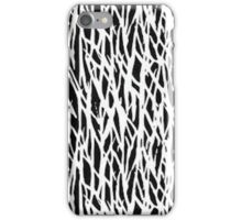 Black and white branch-like patten iPhone Case/Skin