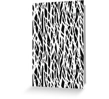 Black and white branch-like patten Greeting Card