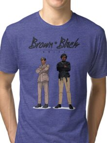 Brown + Black Unity Tri-blend T-Shirt