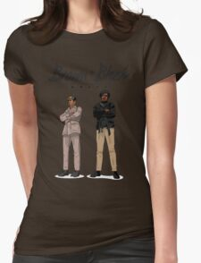 Brown + Black Unity Womens Fitted T-Shirt