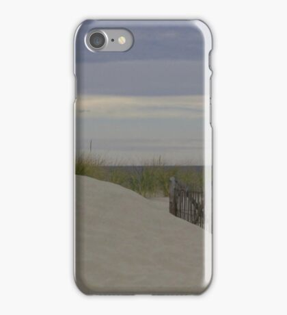 Sand dunes by the sea iPhone Case/Skin