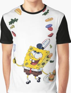 Spongebob and Krabby Patties Graphic T-Shirt