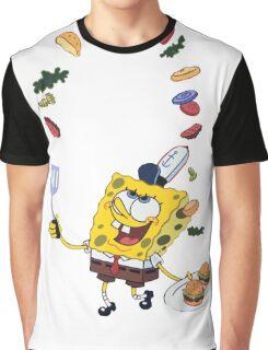 Spongebob and Krabby Patties Graphic T-Shirt