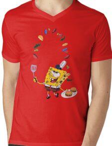 Spongebob and Krabby Patties Mens V-Neck T-Shirt