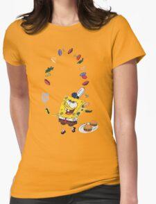 Spongebob and Krabby Patties Womens Fitted T-Shirt