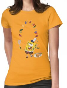 Spongebob and Krabby Patties Womens Fitted T-Shirt