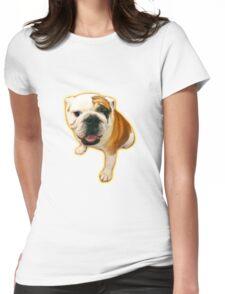 Fun Lovin' Bulldog! Womens Fitted T-Shirt