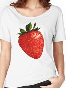 Strawberry Pattern Women's Relaxed Fit T-Shirt