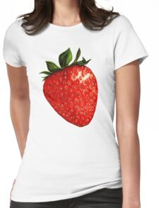 Strawberry Pattern Womens Fitted T-Shirt