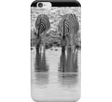 Zebra - Reflection and Iconic Black and White Nature iPhone Case/Skin