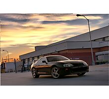 Black Toyota Supra  Photographic Print