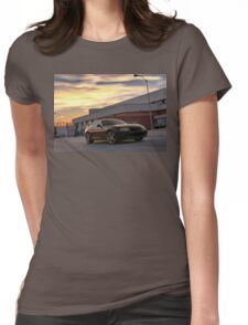 Black Toyota Supra  Womens Fitted T-Shirt