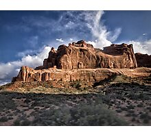 Light On the Rocks - Arches National Park, Utah Photographic Print