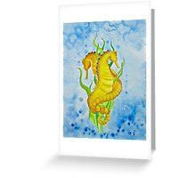 Seahorses by Leslie Berg 2011 Greeting Card