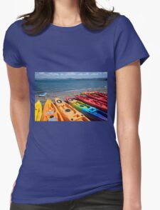 Multi colored kayaks. Womens Fitted T-Shirt