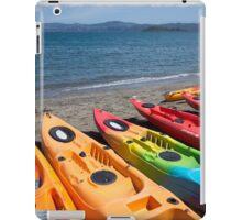 Multi colored kayaks. iPad Case/Skin